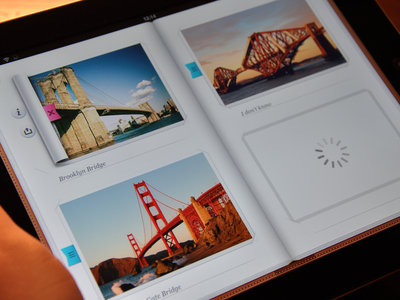 Inside Photo album - iPad - UI/UX/iOS ui icons interface ipad photo album cuberto xcode development graphics