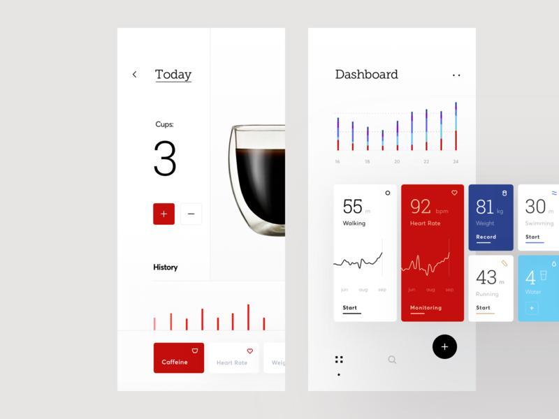 Fitness Activity Tracker Dashboard #1 main interface ios activity fitness tracker dashboard app icons ux ui cuberto