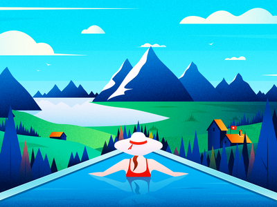 SPA Relax Zone texture vector image art graphicsdesign design sketch graphics illustration cuberto