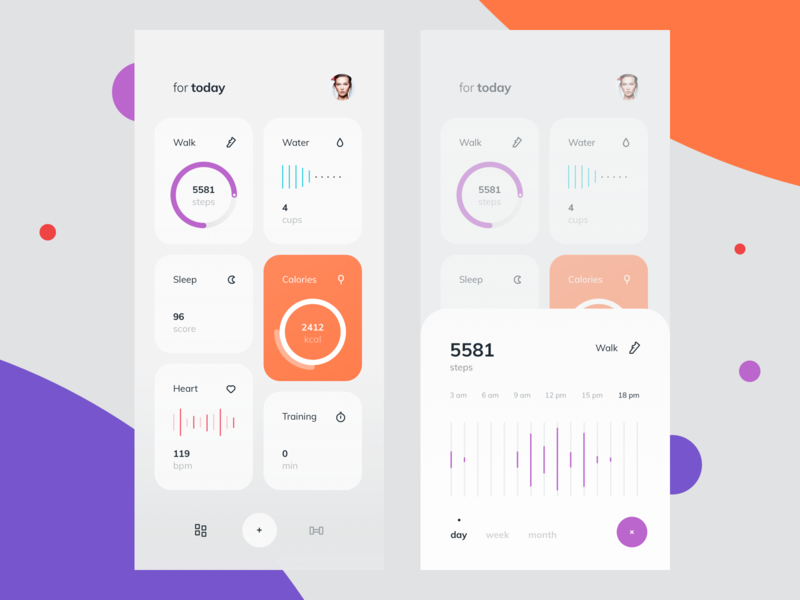 Fitness Activity Tracker Dashboard #3 activity tracker fitness interface design ios graphics illustration app icons ux ui cuberto