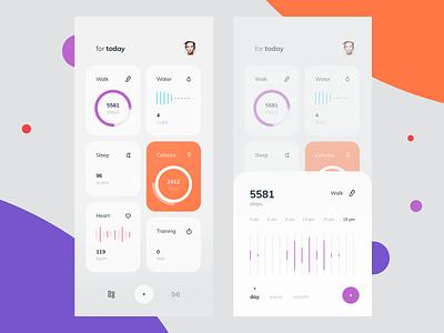Fitness Activity Tracker Dashboard #3 activity tracker fitness interface design ios graphics illustration app icons ux ui cuberto