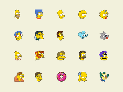 The Simpsons icons ui icons cuberto simpsons