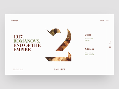 Hermitage Culture Event second font layout afisha site web ticket event culture hermitage ux ui cuberto