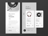 E-commerce App Interface for High-end Equipment