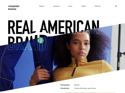 Clothes Brand Presentation Landing Page