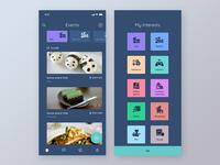 Events app UI design