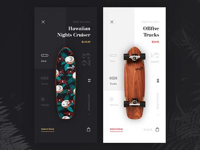 Magma Cruiser Skateboard Online Store design longboards cruiser deck online skateboard ecommerce store app ios ux ui cuberto