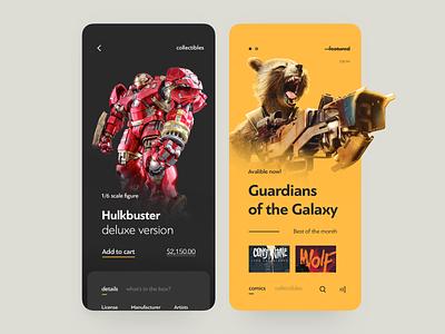 Comic Books Online Store ecommerce price order design interface app book comic art online store icons ux ui cuberto