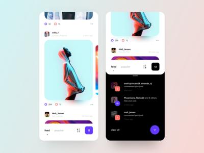 Fresh UI design for a Social App