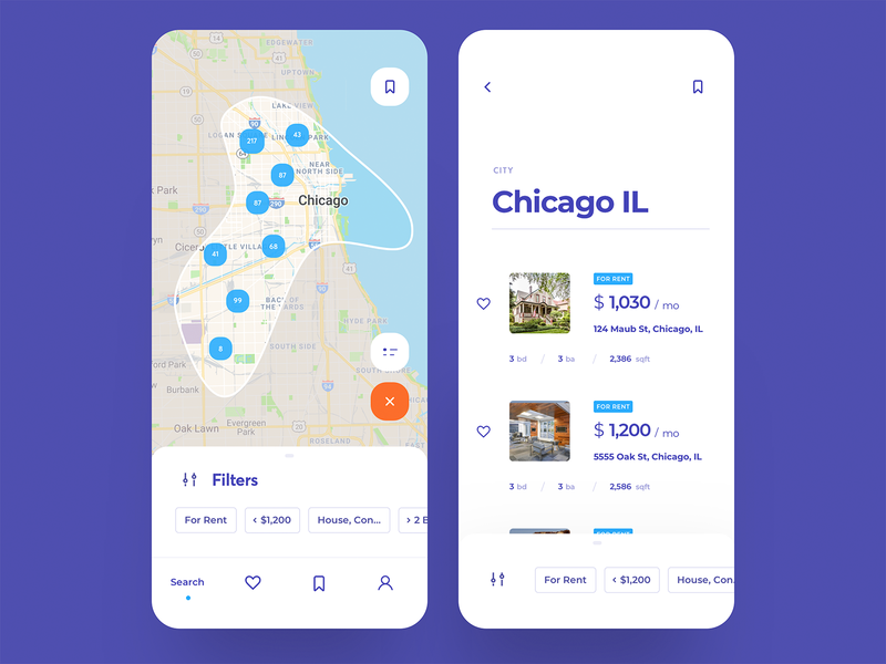 Real Estate Search App (WIP) region filter search map room house guest design booking hotel direct app icons ux ui cuberto