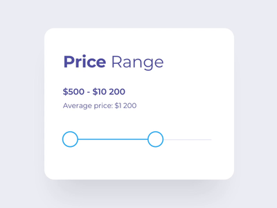 Price range slider