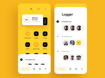 File Explorer App UI download image filter avatar yellow finder explore file graphics app icons ux ui cuberto
