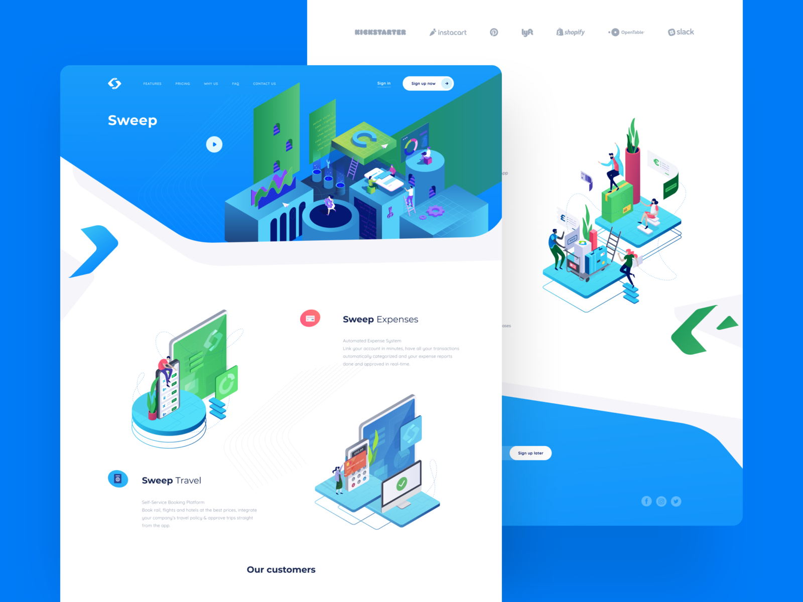 Sweep Travel Self-Service Platform by Cuberto on Dribbble