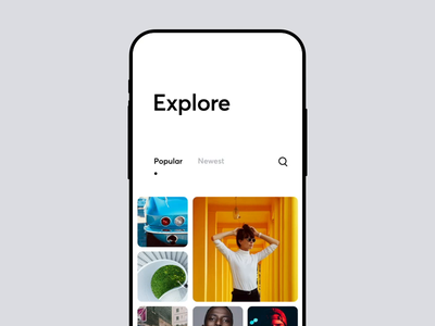 Multi search by categories structure explore photo ios categoies search multi app icons ux ui cuberto