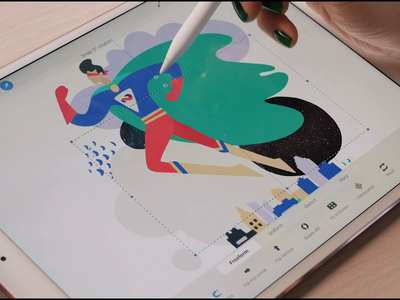 ITSM illustration process video process help desk procreate ipad pro vector design illustration graphics app icons ux ui cuberto