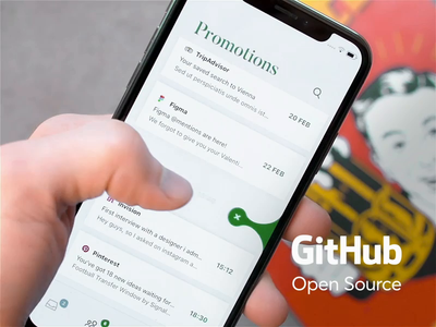 Gooey Cell Open Source search list animation ios swift code development github delete cell mail motion icons ux ui cuberto