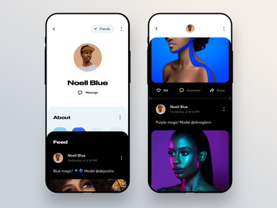 Social Profile Case rounded ios card about name photo profile network social graphics app icons ux ui cuberto
