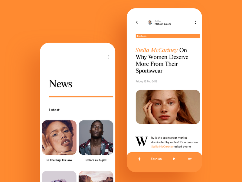 News App Design community app background typography line category font photo post news graphics icons ux ui cuberto