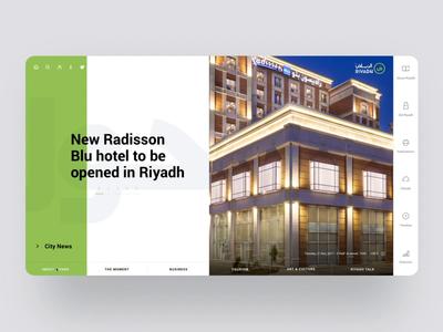 Official Riyadh Website Redesign (v.1) news design development capital usability interaction animation history tourism culture website social city ux ui cuberto