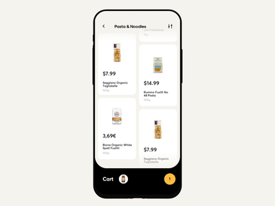 Groceries Shopping App Interaction mobile category buy payment food order ios card ecommerce shopping cart design illustration app icons ux ui cuberto