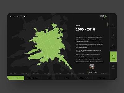 City Development Map Based Timeline interaction web urbanization development history city timeline maps illustration graphics ux ui cuberto