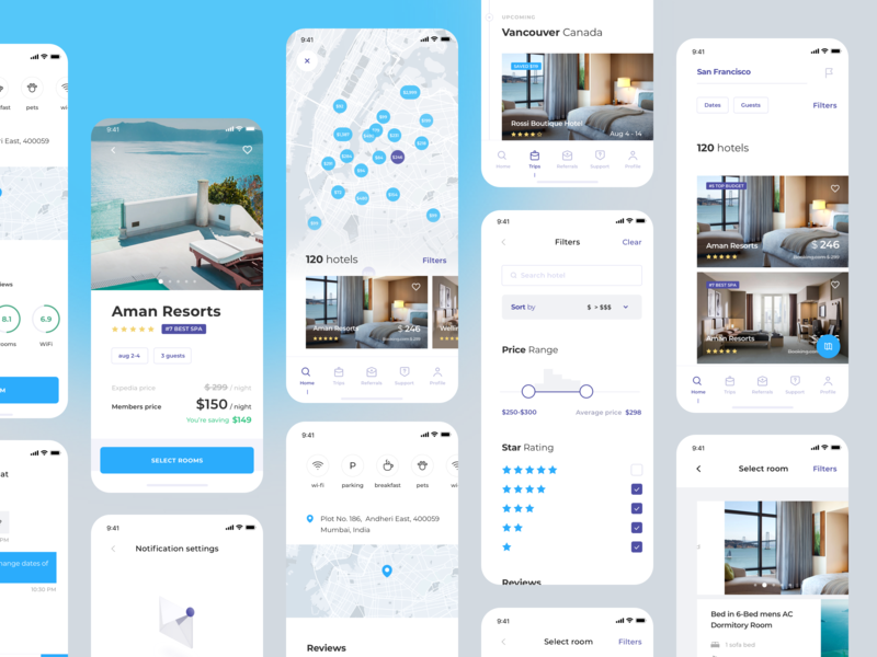 Real Estate Search App (UI map) mobile pin maps interface room guest hotel price range booking search estate design sketch graphics app icons ux ui cuberto