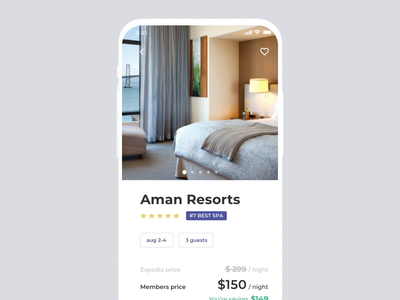 Real Estate App / Booking process