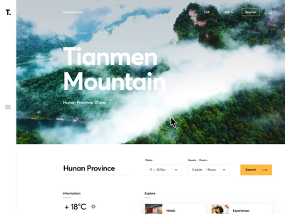 Mountain Excursions Menu smooth design hamburger category order excursion hover menu mountain website graphics icons ux ui cuberto