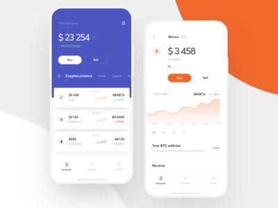 Multicurrency wallet UI