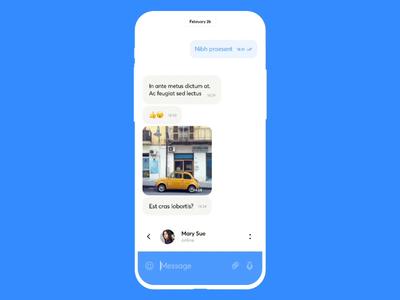 Telegram UI concept