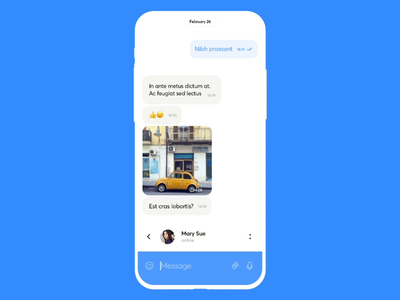 Telegram UI concept mobile network idea motion photo upload design course chat messenger graphics app icons ux ui cuberto
