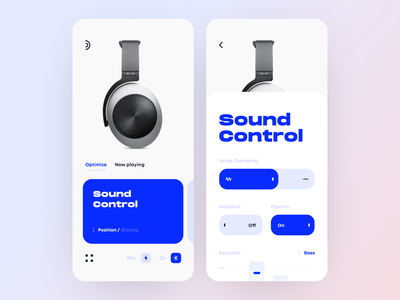 App Interface for Audiophile and Pro-grade Sound mobile play technology control sound audio headphones interface iphone design ios graphics app icons ux ui cuberto
