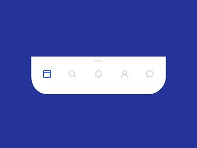 Alternative Facebook Menu mobile scrollbar tabbar interface motion menu facebook design ios app graphics icons ux ui cuberto