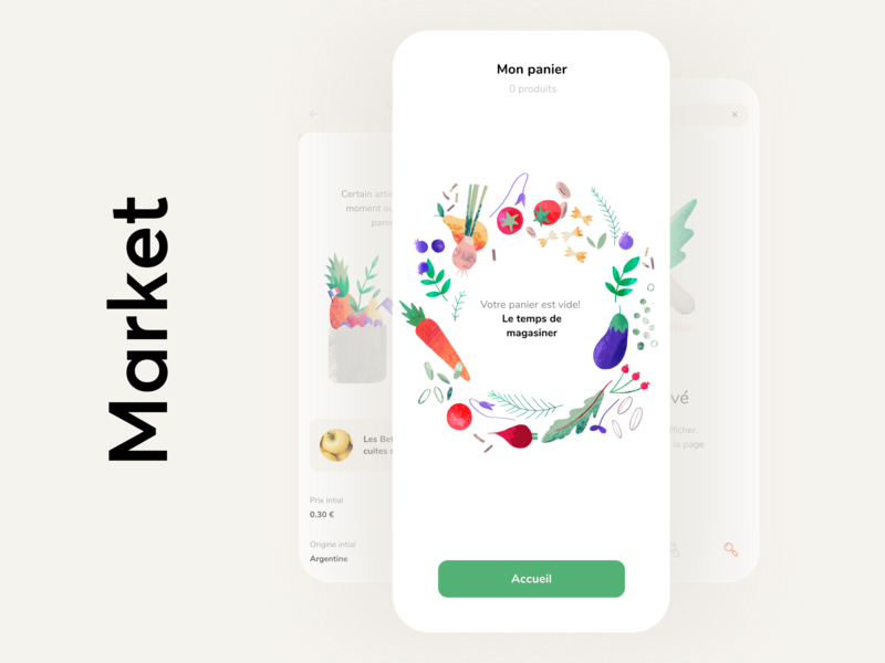 Onboarding Marketplace App mobile place cart ecommerce market product onboarding vegetables illustration graphics app icons ux ui cuberto