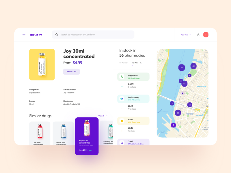 Online Pharmacy Web Design web portal map medicine pharmacy store search ecommerce online website web design product design design graphics icons ux ui cuberto