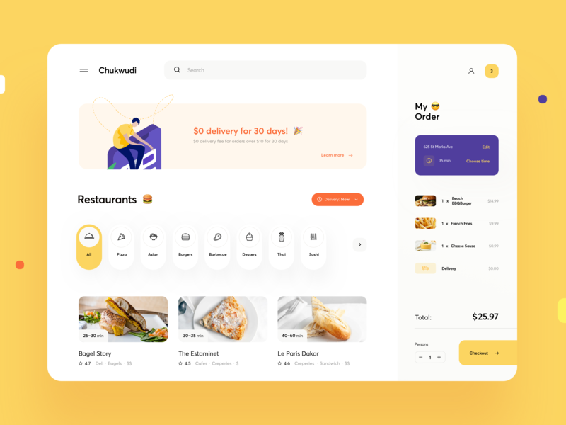 Food Delivery Dashboard web menu platform dish buy cart ecommerce delivery graphics dashboard food web design product design design illustration ux ui cuberto