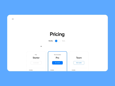 Friendly rate choice (for fun) web concept estimate cost team cards product design web design motion account tariff monthly rates price rate gif design ux ui cuberto