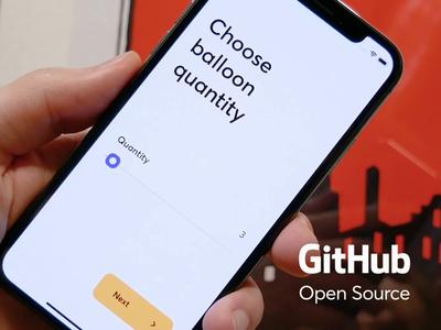 Balloon Picker in Swift open source free picker baloon animation product design mobile github coding swift ios development ux ui cuberto