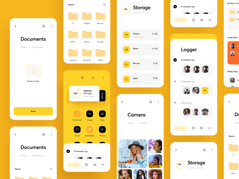 File Explorer (UI map) by Cuberto on Dribbble