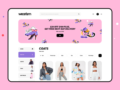 Shop Women's Clothing Web Page banner festival store online fashion dresses boutique ecommerce web women brand clothing shop graphics design icons ux ui cuberto