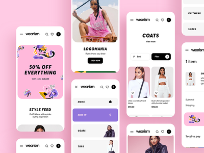 Shop Women's Clothing App Design women store mobile festival fashion ecommerce dresses clothing brand boutique banner ios design illustration graphics app icons ux ui cuberto