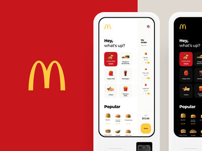 McDonald's Touch Interface Concept banner mobile interface food order mcdonalds fastfood burger touch design illustration graphics app icons ux ui cuberto