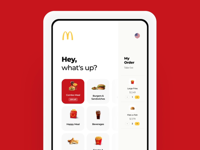 McDonald's Kiosk Redesign Concept terminal interaction animation casestudy payment fastfood burger kiosk design graphics app icons ux ui cuberto