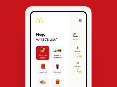 McDonald's Kiosk Redesign Concept terminal interaction animation casestudy payment fastfood burger kiosk design graphics app icons ux ui cuberto