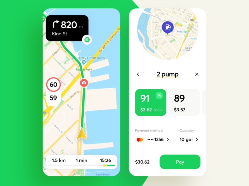 Your Personal Navigator App distance route arrow point track way road map navigator mobile iphone interface ios design graphics app icons ux ui cuberto
