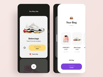 Youth Clothing Shop App Design trend fashion payment cart youth clothing ecommerce store shop mobile interface ios illustration graphics app ux ui cuberto