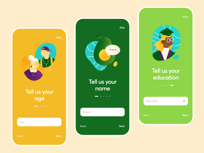 Onboarding / Track Your Spending App budget finance tutorial form onboarding analytics track spending green money ios app illustration graphics icons ux ui cuberto