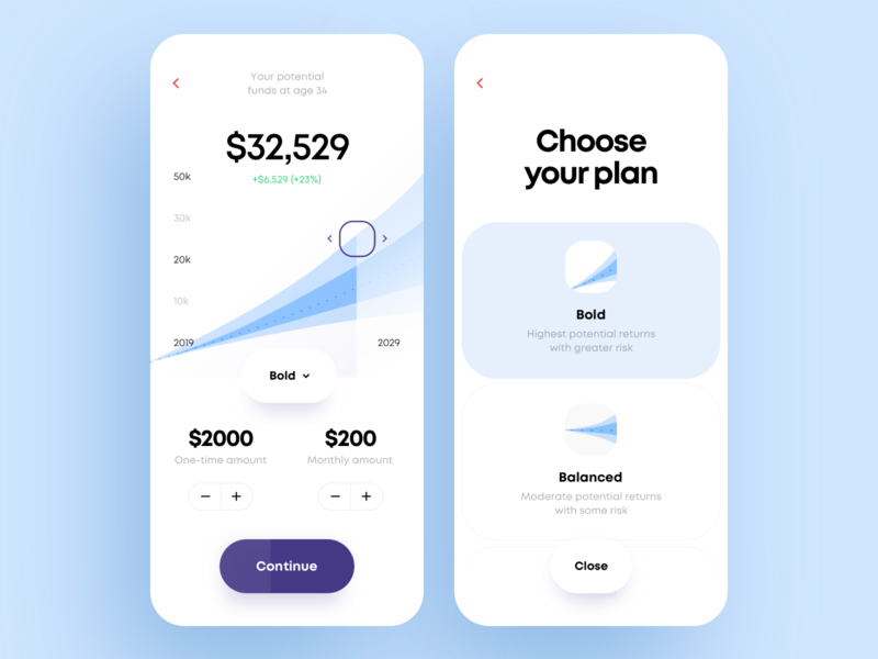 Financial Risks Manager App Design