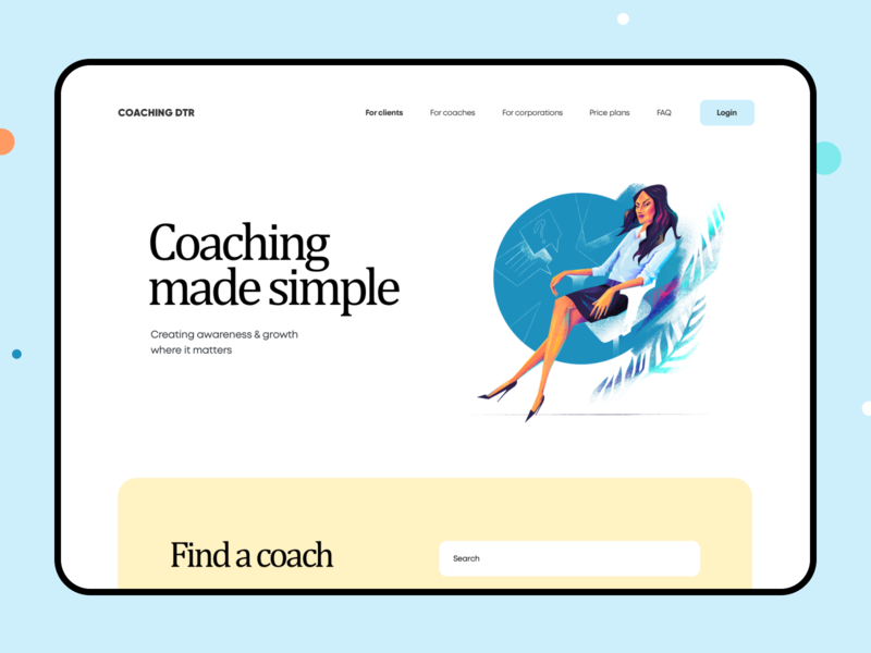 Management Training Courses for Women entrepreneur business woman mission training course coaching managment platform web interface design illustration graphics ux ui cuberto