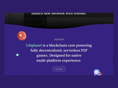Nine-chronicles Website Interaction blockchain scroll web animation interaction game css development design illustration graphics app icons ux ui cuberto